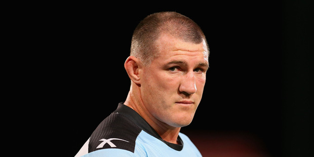 Paul Gallen of the Sharks. Photo / Getty Images.