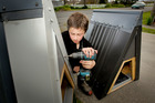 James McKinley-Blake, 12, of Meeanee had one of his small dog kennels stolen from his home. Photo/Warren Buckland
