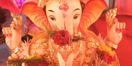 Our last day in India we saw the final chapter of Ganesh Chaturthi, the 11-day festival to the god Ganesh.