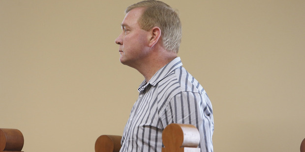 Russell Stewart during his appearance in the Dargaville District Court where he pleaded not guilty to all charges against him. Photo/Michael Cunningham