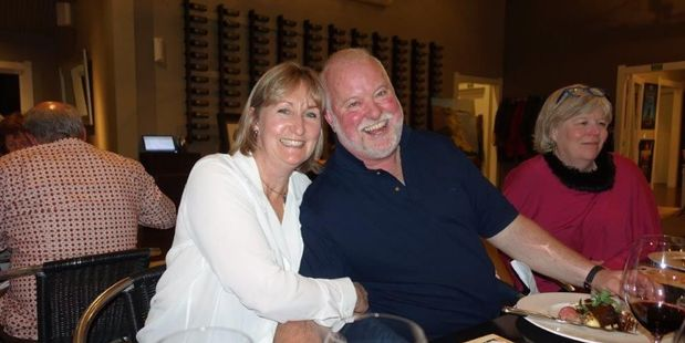 GOOD CAUSE: Brain Injury Association chairperson Brett Morris and wife Gerry attend the Logan Brown fundraising dinner at Black Barn. PHOTO FILE