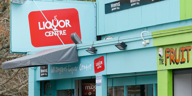 Whangarei Liquor Centre on Maunu Rd was robbed for the third time on Wednesday evening. Photo/ Michael Cunningham