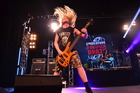 Alien Weaponry bassist Ethan Trembath shows the style that saw the band win the Smokefree Pacifica Beats national final.