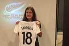 BON VOYAGE: Rose Morton savours the moment after receiving her strip at the shirt presentation ceremony in Auckland yesterday before jetting off to Jordan. PHOTO/SUPPLIED