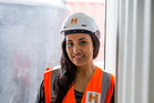 Hawkins site engineer Sapoa Rimoni encourages women as well as men to join Auckland's booming construction industry. Photo / Supplied