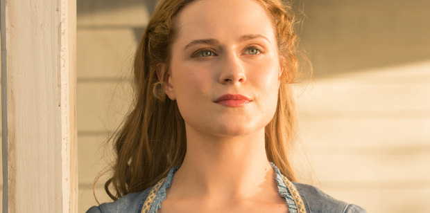 Evan Rachel Wood as Dolores Abernathy in HBO's highly touted new show Westworld.