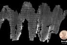 The ancient En-Gedi scroll unfurled. Photo / Science Advances, B. Seales et al 2016.