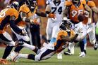 Denver Broncos cornerback Chris Harris (25) intercepts the ball. photo / AP
