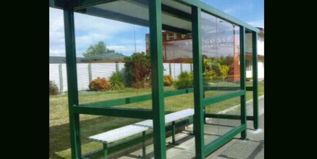 No one saw the bus stop, similar to this one, go or missed it for over two months. Photo / Supplied
