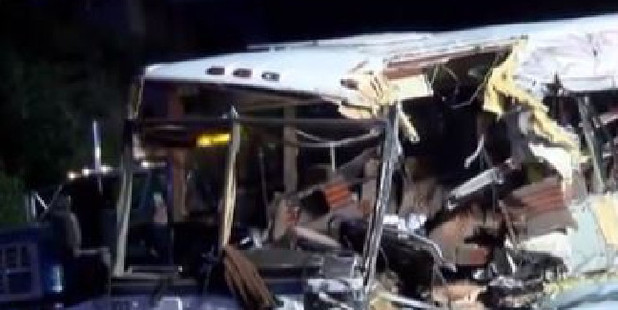 Four people have died in a bus crash in North Carolina. Picture: YouTube/KRQE