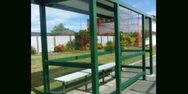 A bus shelter has been stolen sometime between June and August from a street on the West Coast.