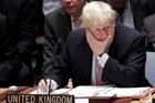 Boris Johnson blames the Assad Government. Picture / AP