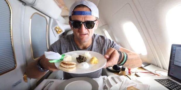 YouTube vlogger Casey Neistat ordered caviar on Emirates.