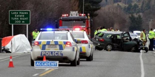 The scene of the fatal crash on State Highway 6, at Ladies Mile, on July 31 last year. Photo / Otago Daily Times, Tracey Roxburgh