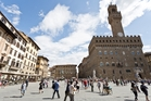 The Piazza della Signoria in the centre of Florence, a tourist hub flanked by, among others, the Palazzo Vecchio, Florence's town hall. Photo / 123RF