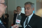Source: CNN. George Clooney finds out about break up live on camera