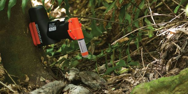 The CO2-powered self-resetting traps, developed by Wellington company Goodnature, have proven lethal weapons at killing rats. Photo: Supplied