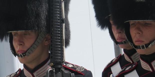 Royal guardsmen retain the 'Viking glint'. Photo / Paul Charman