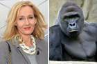 Your Patronus is not Harambe, according to JK Rowling. Photos / AP, Cincinnati Zoo