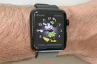 Apple Watch Series 2 with the new watchOS 3 Minnie Mouse face. Photo / Juha Saarinen