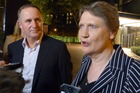 Helen Clark and Prime Minister John Key met at the UN ambassador's residence in New York today discuss tactics at leaders' week at the United Nations. Photo / Audrey Young