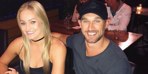Nicole posted a picture to Instagram of them at a Gold Coast restaurant this week, with Jono's arm around her and big smiles on both their faces. Photo / nicoleheir Instagram