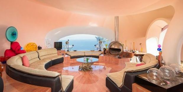 The interior: Everything is circular in the home. Photo / Christie's International Real Estate