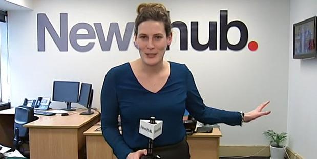 Jenna Lynch tells her story bare-faced on camera. Photo / Newshub
