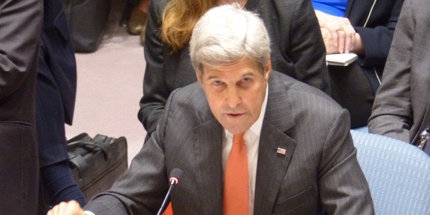United States Secretary of State John Kerry called for the immediate grounding of Syrian and Russian Air Forces. Photo / NZ Herald