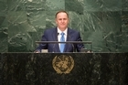 "Prime Minister John Key has used his speech to the United Nations General Assembly to campaign for Helen Clark to become next UN Secretary-General, saying she was a ""natural leader""."