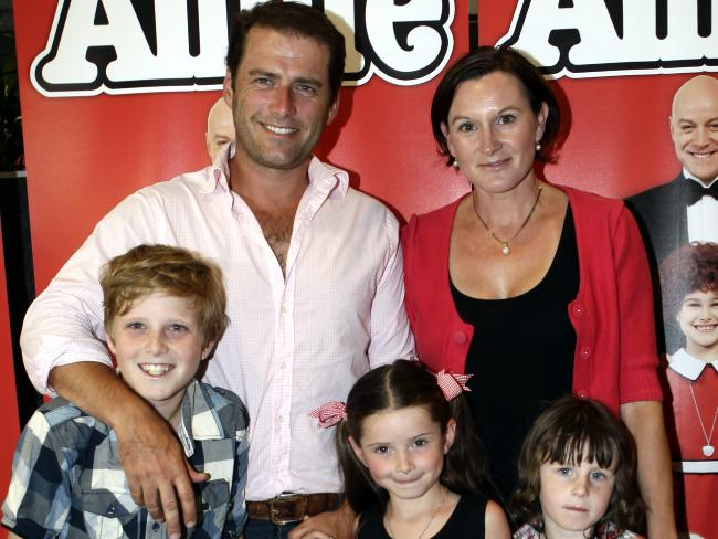 Karl and Cassandra with their three children - Jackson, Ava and River. Photo / News Limited