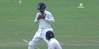 Watch: Cricket - Latham's close call