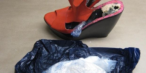 Police seized meth found inside high heel shoes. Photo / Supplied via police