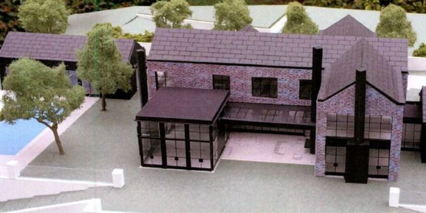A model of the new home planned for the Spencers.