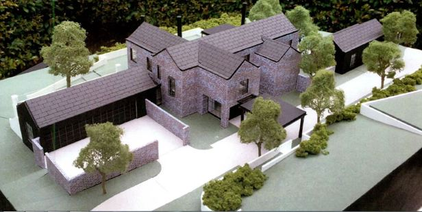 A model showing the scale of proposed new house.