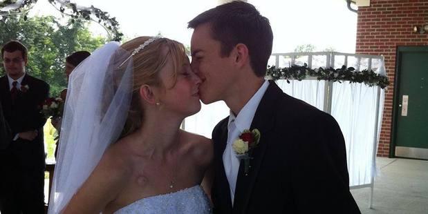 Dalton and Katie on their wedding day. Photo / Facebook