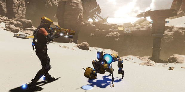 A scene from Xbox One exclusive Recore.
