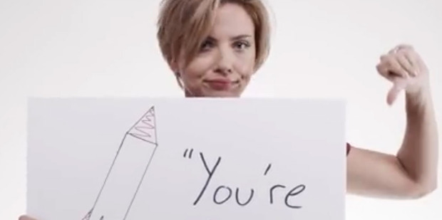 Scarlett Johansson appears in an ad that takes aim at Donald Trump's bid for presidency. Photo/YouTube