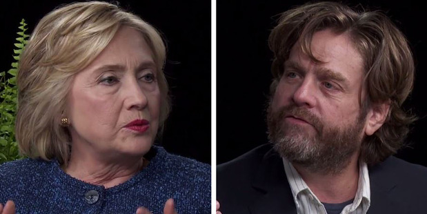 Loading Past criticism of Hillary Clinton's lack of smiling aided the comedy Two Ferns, as she played the unamused foil to Zach Galifianakis's purposefully droll and insulting questions.