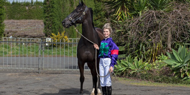 Auckland jockey Tayla Wenn would love Hollywood actor Jason Statham to see six-year-old gelding Statham race today at Ellerslie. Photo / Hive Photos