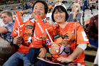 Supporters during the Super Rugby match between the Toyota Cheetahs and the Sunwolves. Photo / Photosport.co.nz