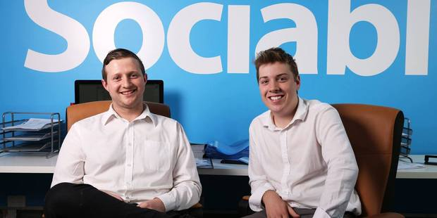 Brandon Reynolds and Jarrad Hrotek, both in their early 20s, founded the start-up last year. Photo / Facebook