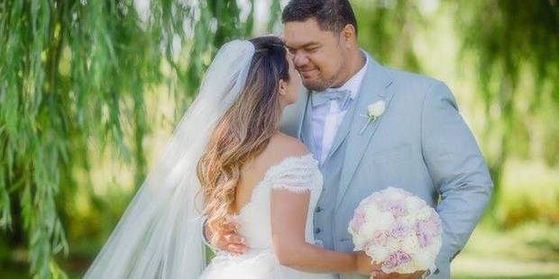 Wedding of Sol3 Mio star Pene Pati and Amina Edris. Photo / poppymoss.com