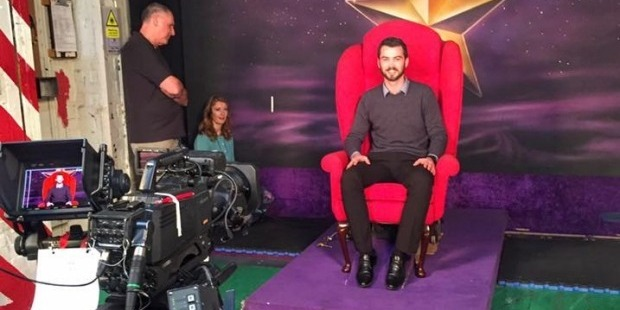 Brad Baxter in the infamous Red Chair. Photo / Facebook