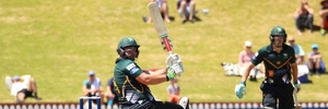 Jesse Ryder blasting his traditional leg-side boundaries. Photo / www.photosport.nz