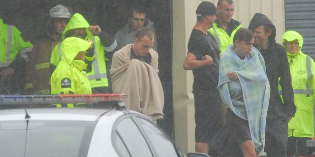 The majority of passengers and crew were now at the Coastguard premises in Whakatane. Photo / Rotorua Daily Post