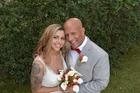 Panagiota and Mathew Stone on their wedding day.