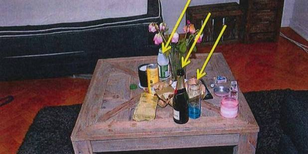 Police found traces of Rohypnol in the juice and champagne bottles and the glass in the victim's flat. Photo / Supplied