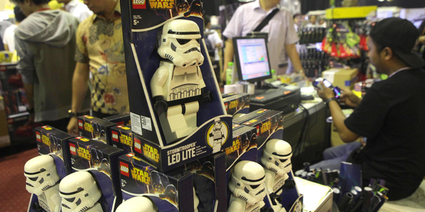 Lego Star Wars models helped toys from the franchise top over $1 billion in sales. Photo / Getty