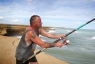 James Maxwell kept on fishing after netting two prizes at the Waipipi Beach fishing contest yesterday. Photo / Bevan Conley